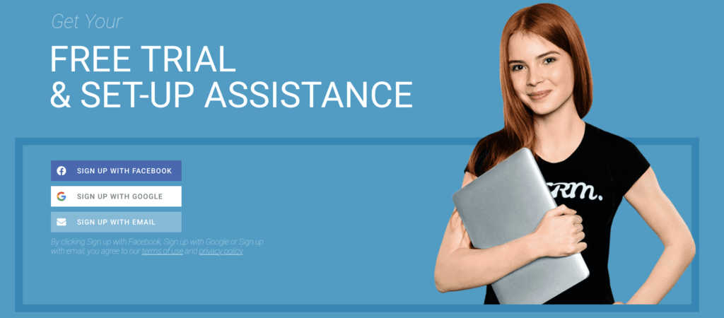 Free Trial and setup assistance for amp CRM Partnership program.